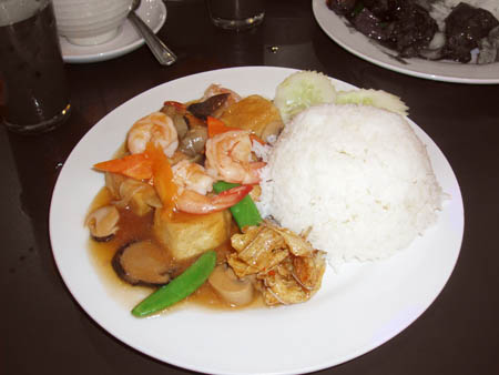 Rice with Taufu & Prawns