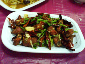 东北菜红烧排骨 Dong bei cai - deep fried pork ribs with spices 1