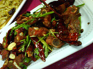 东北菜红烧排骨 Dong bei cai - deep fried pork ribs with spices 2