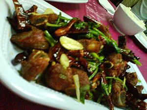 东北菜红烧排骨 Dong bei cai - deep fried pork ribs with spices 3
